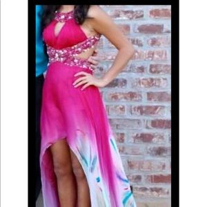 Sherri Hill hi-low pageant/prom/homecoming gown
